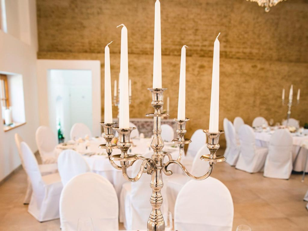 5-armige Kerzenständer silber – 12 Stück