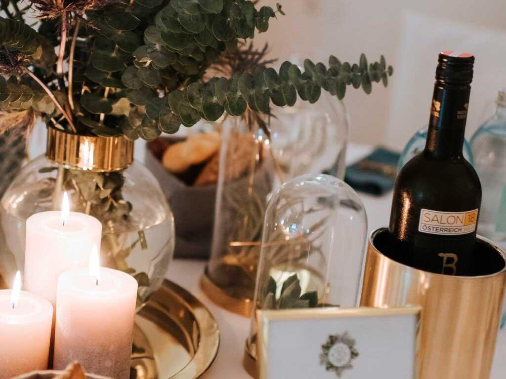 Flaschenkühler gold – 10 Stück
