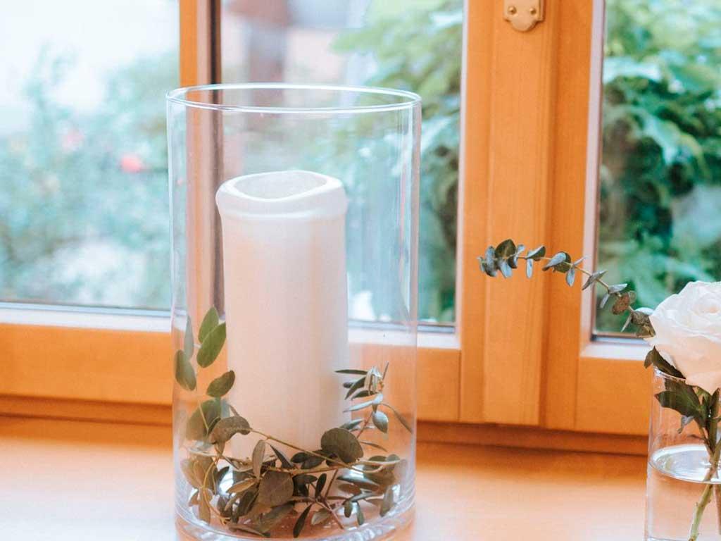 Windlichter-glas—8-Stück.